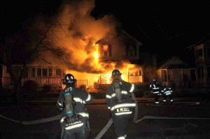 12/18/2013:  Mutual Aid second alarm fire on Clark Avenue in Ocean Grove